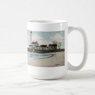 Nuevo faro del puerto de Londres Taza De Café
