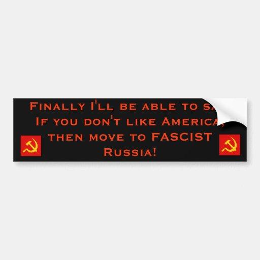 Nuevo fascismo de América Etiqueta De Parachoque