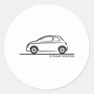 Nuevo Fiat 500 Cinquecento Pegatina Redonda