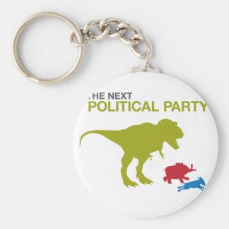 Nuevo fiesta político llavero redondo tipo pin