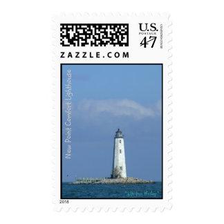 Nuevo franqueo del faro de la comodidad del punto timbre postal
