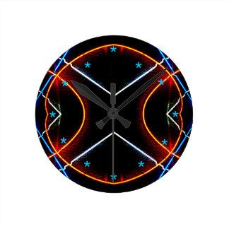 Nuevo futurismo retro del arte del negro de neón reloj