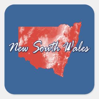 Nuevo Gales del Sur Pegatina Cuadrada