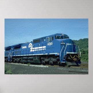 Nuevo GE widecab C40-B de Conrail Póster