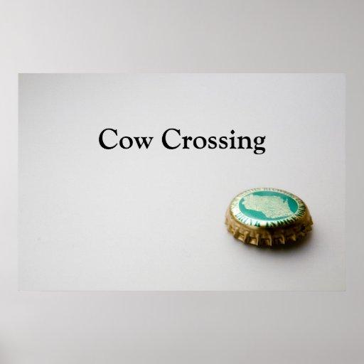 Nuevo Glarus, travesía de la vaca Póster