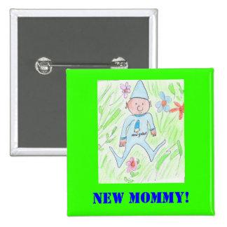 ¡nuevo gnomo, nueva mamá! pin cuadrado