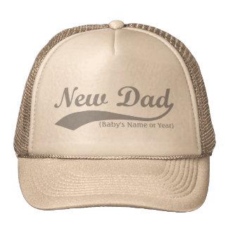 Nuevo gorra del papá, el nombre del bebé personali