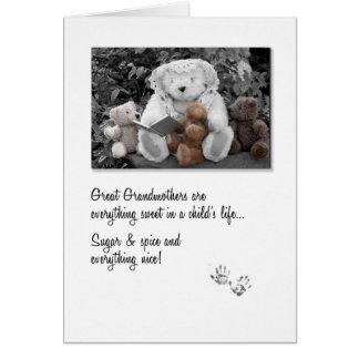Nuevo gran oso de peluche de la abuela Storytime Tarjeta De Felicitación