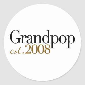 Nuevo Grandpop Est 2008 Pegatina Redonda