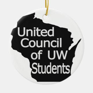 Nuevo gris unido del logotipo del consejo en negro ornamento para arbol de navidad
