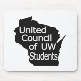 Nuevo gris unido del logotipo del consejo en negro tapete de ratón