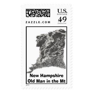 Nuevo - Hampshire - viejo hombre en el Mt - Sellos