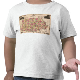 Nuevo HampshirePanoramic MapNew Hampshire Camiseta