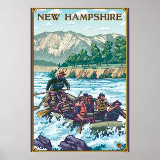 Nuevo HampshireRiver que transporta escena en bals Póster