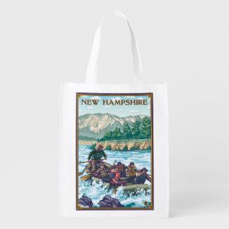 Nuevo HampshireRiver que transporta escena en Bolsas Para La Compra