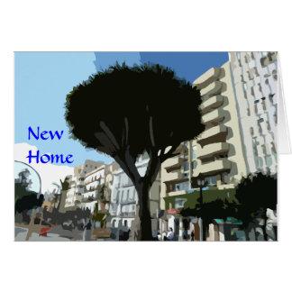 Nuevo hogar - apartamento/planos) tarjeta de felicitación