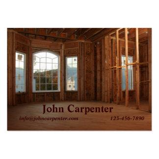 Nuevo hogar bajo construcción tarjetas de visita grandes