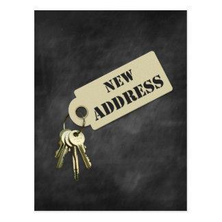 Nuevo hogar de la dirección o postal del negocio