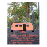 Nuevo hogar de la palmera hawaiana retra del tarjetas postales