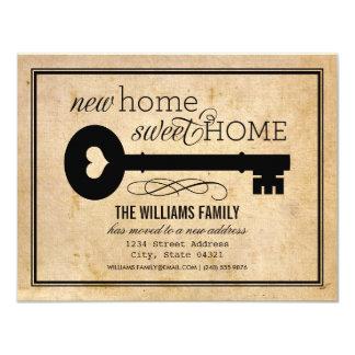 Nuevo hogar dulce casero móvil de las invitaciones invitación 10,8 x 13,9 cm