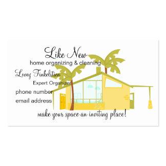 Nuevo hogar en las palmas tarjetas de visita