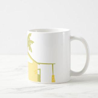 Nuevo hogar en las palmas taza de café