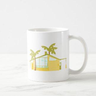 Nuevo hogar en las palmas taza básica blanca