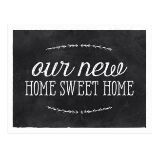 Nuevo hogar rústico de la caligrafía el | tarjeta postal