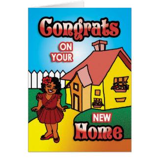 Nuevo hogar tarjeta de felicitación