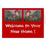 Nuevo hogar - tarjeta del estreno de una casa por