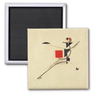 Nuevo hombre por el extracto de El Lissitzky Imán Cuadrado