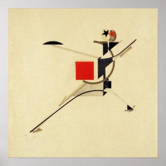 Nuevo hombre por el extracto de El Lissitzky Póster