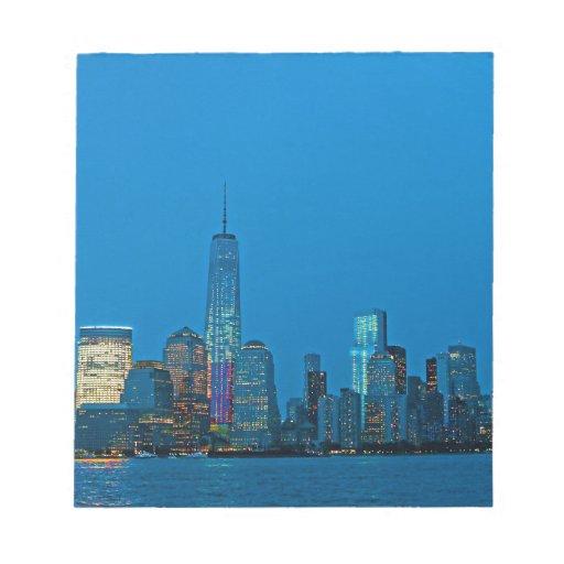 Nuevo horizonte imponente de Nueva York Libretas Para Notas