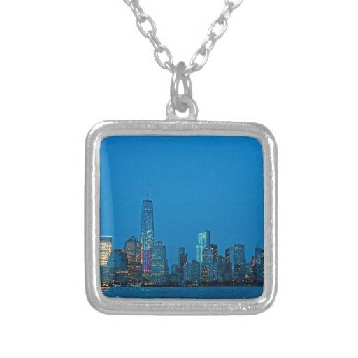 Nuevo horizonte imponente de Nueva York Collar Personalizado