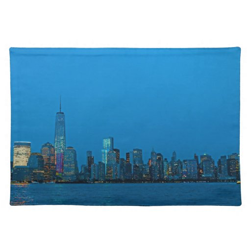 Nuevo horizonte imponente de Nueva York Manteles Individuales