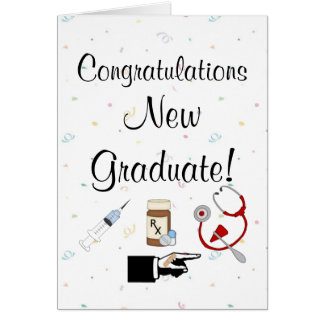 Nuevo humor de la Graduado-Enfermera de la Tarjeta De Felicitación
