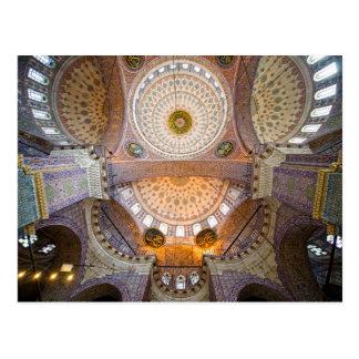 Nuevo interior de la mezquita en Estambul Postal