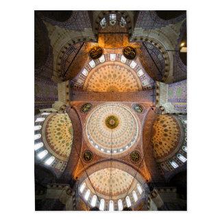 Nuevo interior de la mezquita en Estambul Postales