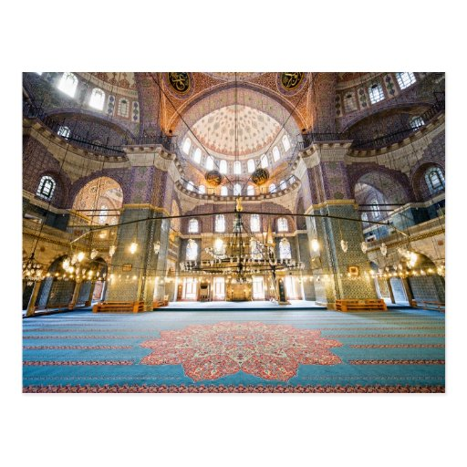 Nuevo interior de la mezquita tarjetas postales