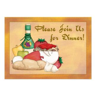 ¡Nuevo Invitación de la cena de Buon Appetito