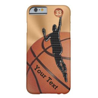 NUEVO iPhone del baloncesto 6 casos con NOMBRE y Funda Barely There iPhone 6