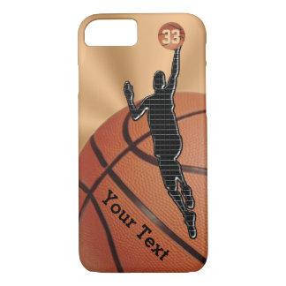 NUEVO iPhone del baloncesto 7 casos con NOMBRE y Funda iPhone 7