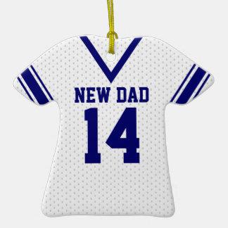 Nuevo jersey del deporte del papá con la foto adorno de cerámica en forma de camiseta