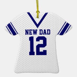 Nuevo jersey del deporte del papá con la foto ornaments para arbol de navidad