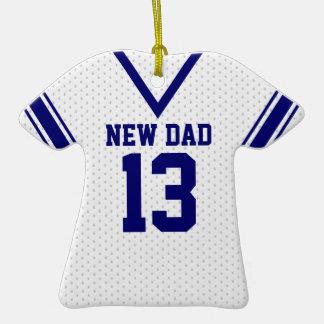 Nuevo jersey del deporte del papá con la foto ornamento para arbol de navidad