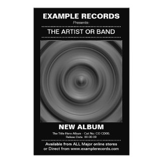 """Nuevo lanzamiento del álbum - negro folleto 5.5"""" x 8.5"""""""