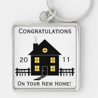 Nuevo llavero casero de la casa de la enhorabuena