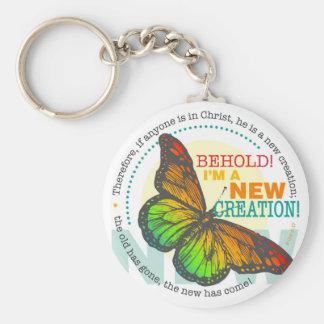 Nuevo llavero de la mariposa de la creación