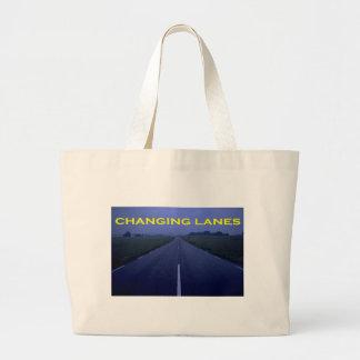 Nuevo logotipo cambiante de los carriles bolsa tela grande