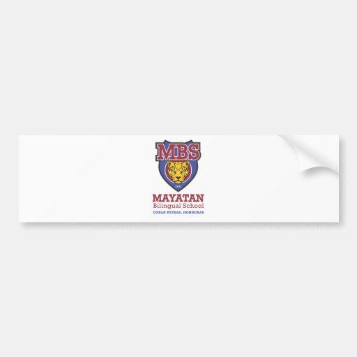 Nuevo logotipo de Mayatan Etiqueta De Parachoque